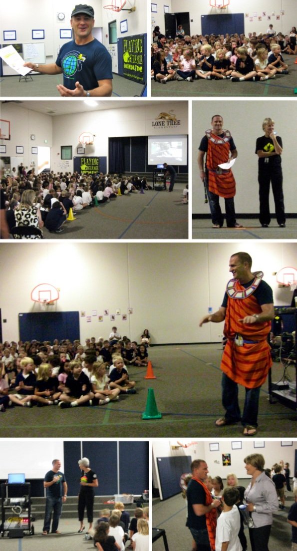 "Pictures from Dave's presentation at Lone Tree Elementary about ""Making a Difference"""