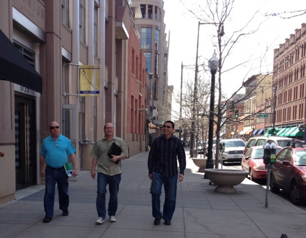 Marty, Mike, and Andrew on their way to visit a client