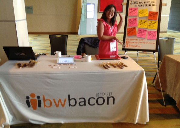 BWBacon's booth at LeanUX Denver